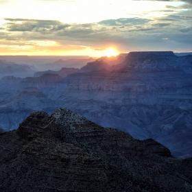 Západ slunce v Gran  Canyonu
