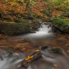 Podzim na Hlubokém potoce v Králickém Sněžníku.