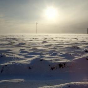 Západ slunce v mrazu