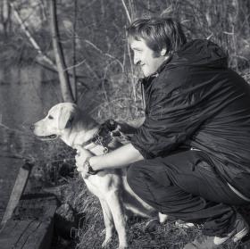 Muž a pes...