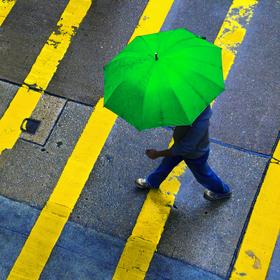 Rainy day in Hongkong