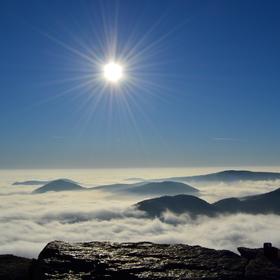 Mlha na Milešovce