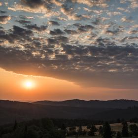východ slunce_Jeseníky