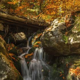 Králický Sněžník - vodopád na Prudkém potoce