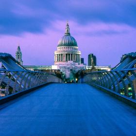 St. Paul's over Millennium Bridge, 1720