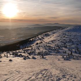 Pohled z Krkonoš