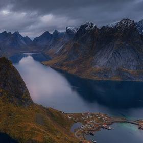 Reinebringen, Reine, Lofoten Islands, Norway