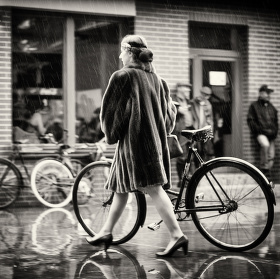 V kapkách deště