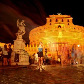 Večerní shon u Andělského hradu