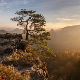 Východ slunce na Kleiner Winterberg
