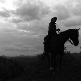 podvečer s dívkou a koněm