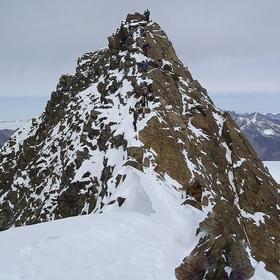 Etzálské Alpy - tak konečně vrchol.