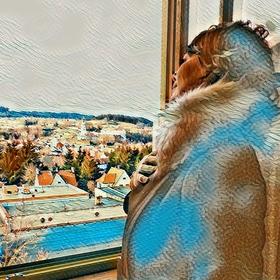V okně