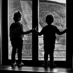 U okna