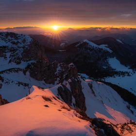 Východ slnka na Veľkom Rozsutci