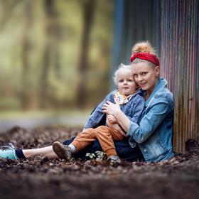 Autoportrét se synem
