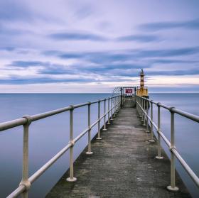 poslední světlo, Amble, Northumberland