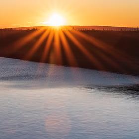 Východ slunce na Dlouhých stráních