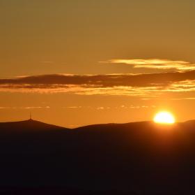 Praděd při východu slunce