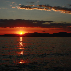 západ slunce - Lago di Garda