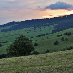 Západ za Tatrami