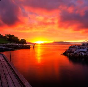 ráno v Norsku