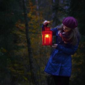 """""""noční"""" procházka v lese"""