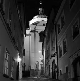 Večerní Olomouc - chrám sv. Michala