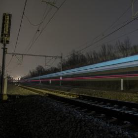 Railway night.