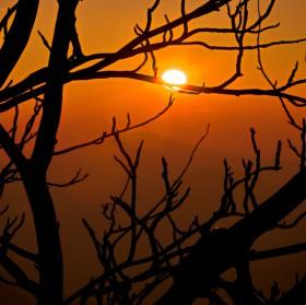 Západ slunce z Lužických hor