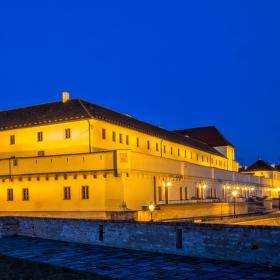 Špílberk, Brno s večerním osvětlení