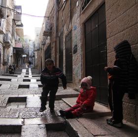 Arabské děti v Jeruzalémě