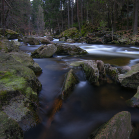 V korytu horské řeky