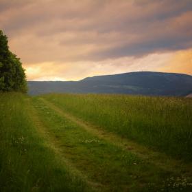 Černá hora při západu