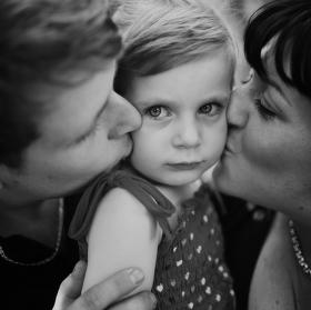 Leonka s rodiči