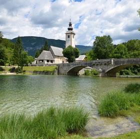 Slovinsko - Ribčev Laz - jezero Bohinj