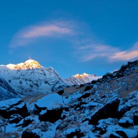 Rozbřesk u Annapurny