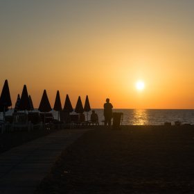Západ slunce v Itálii