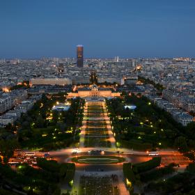 Paříž z Eiffelovy věže