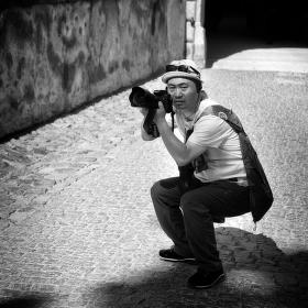 Čínský fotograf v Krumlově