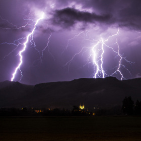 Bouřka nad Hejnicemi