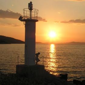 Západ slunce na  Jadranu