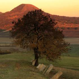západ slunce vrch Oblík