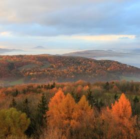 Podzim pod Strážným vrchem