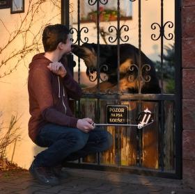 Pozor na psa líže