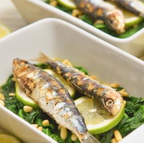 Grilované sardinky