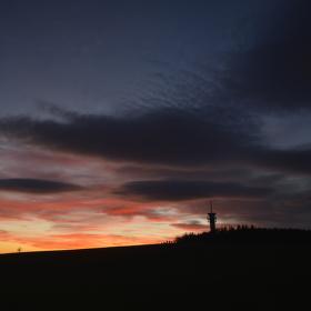 Západ slunce na Zelené hoře