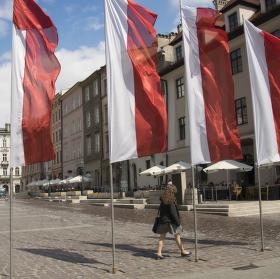 Vlajky na Polském náměstí
