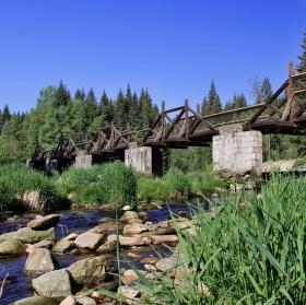 Hradlový most - rechle - Modrava