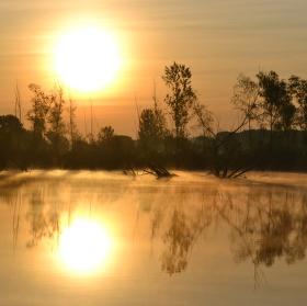 Ráno u rybníku Rašelina, Mistřín